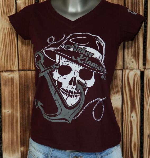 Skull Lady Red Shirt